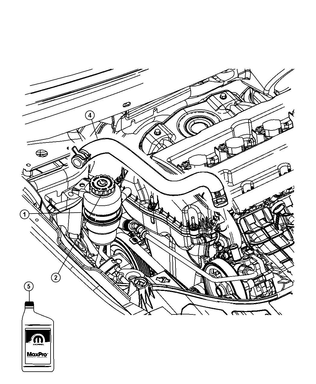 Dodge Journey Cap. Power steering reservoir. [power rack