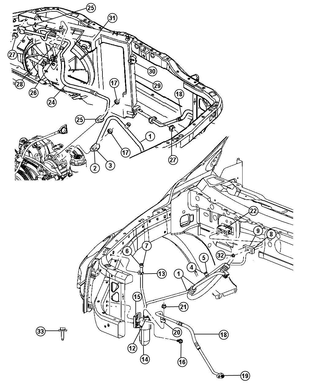 Dodge Durango Valve, valve core. A/c line, charging
