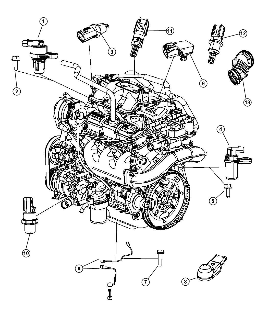 Chrysler Town & Country Sensor. Camshaft. [[electronic gas