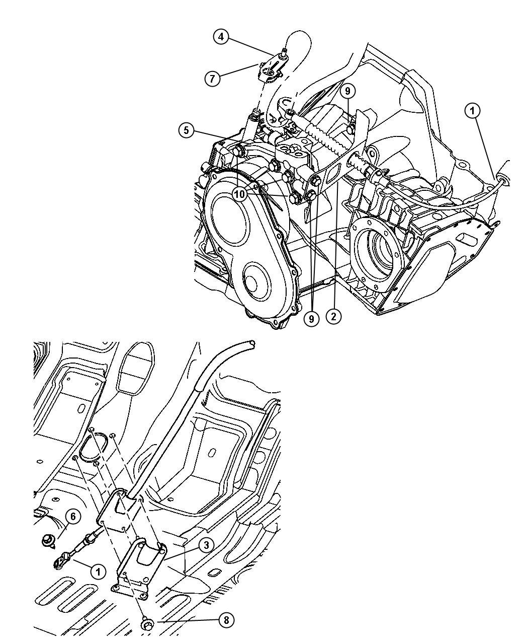 Chrysler PT Cruiser Support. Engine mount. Left. Automatic