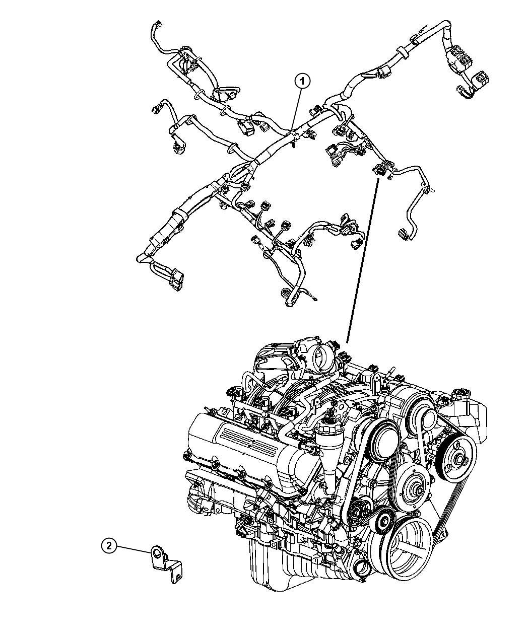 Jeep Liberty Bracket. Wiring. I/p to body inline bracket