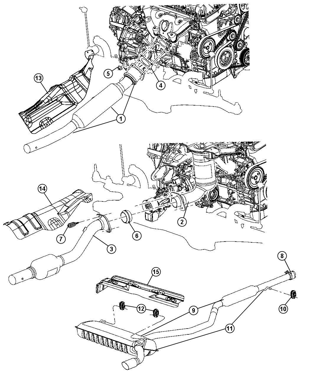 Dodge Caliber Converter. Catalytic. Engine, dual, dohc