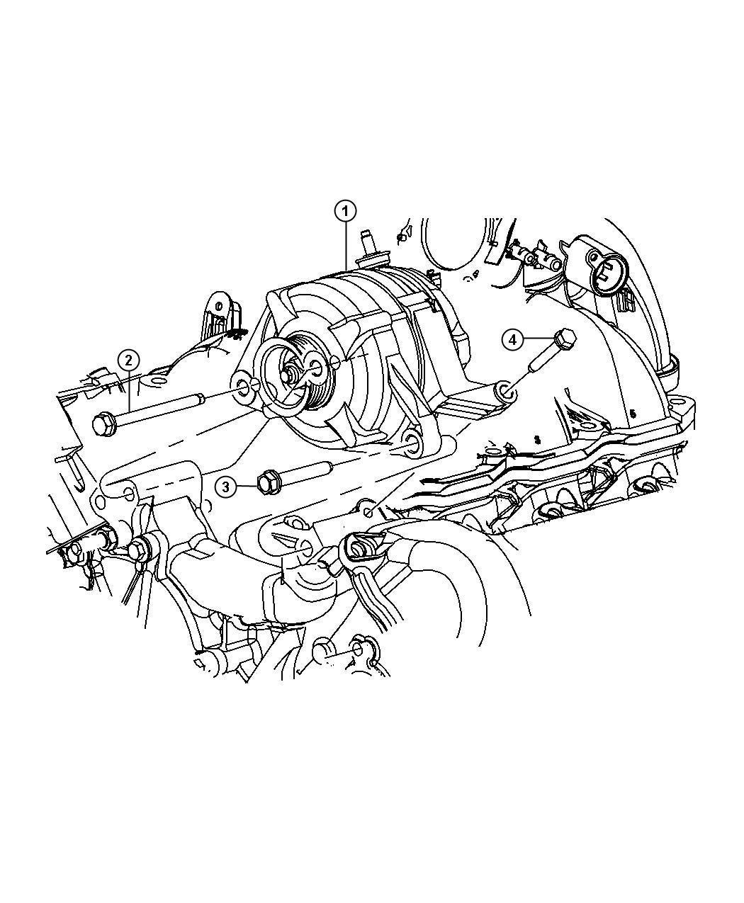 Dodge NITRO Generator. Engine. [160 amp alternator], [140