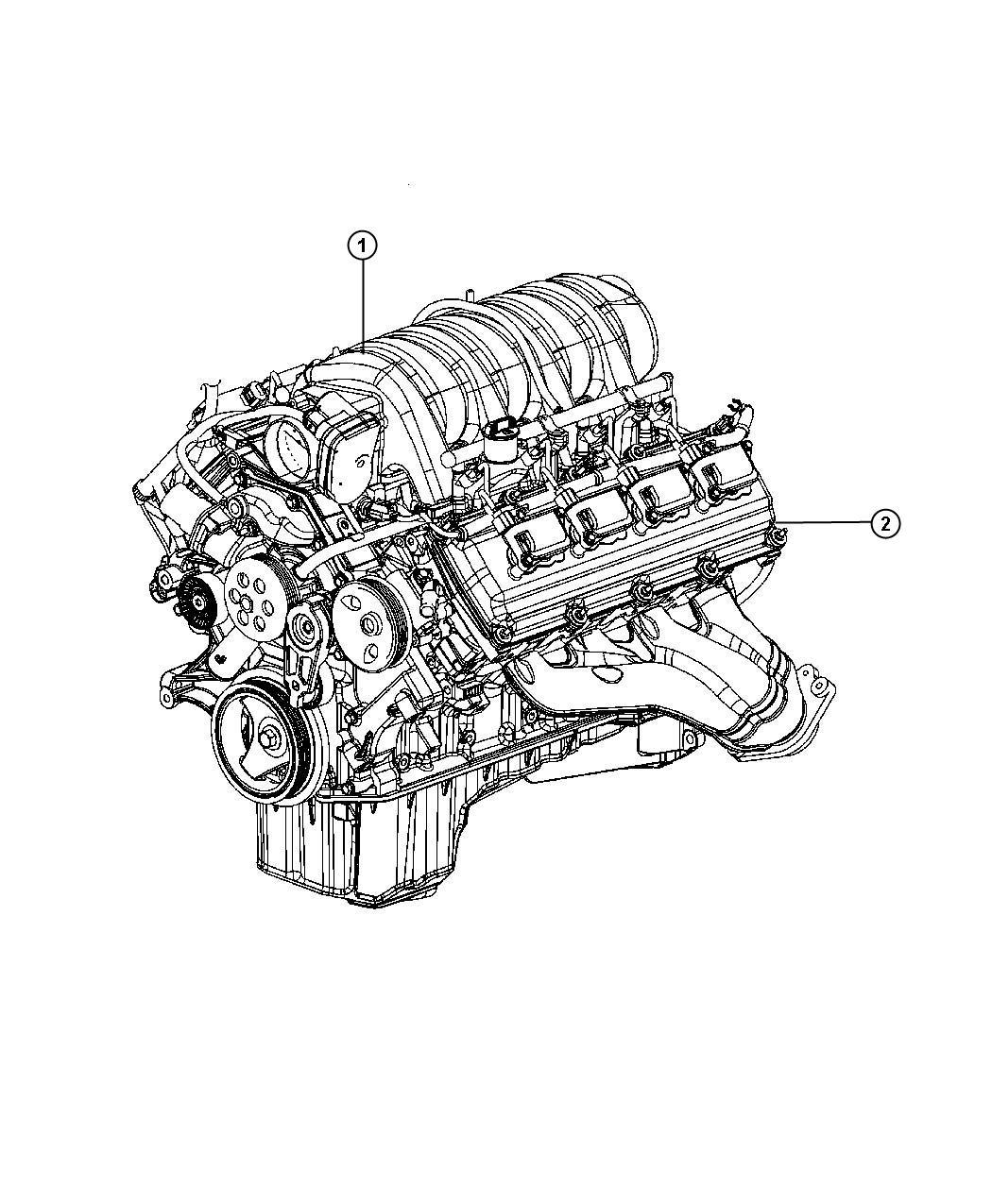 Chrysler 300 Engine. Long block. Remanufactured. Hemi