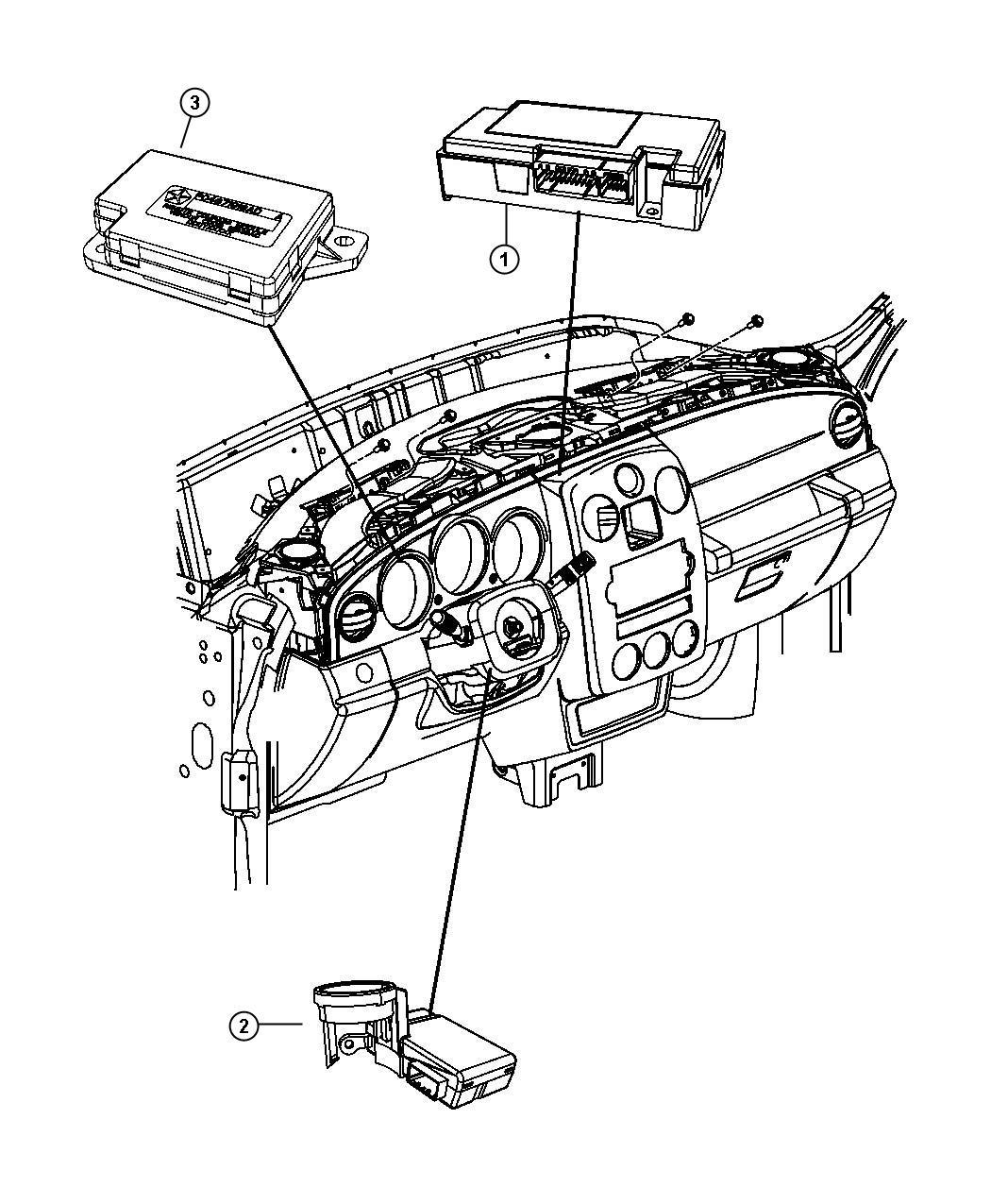 Chrysler PT Cruiser Module, receiver. Keyless entry