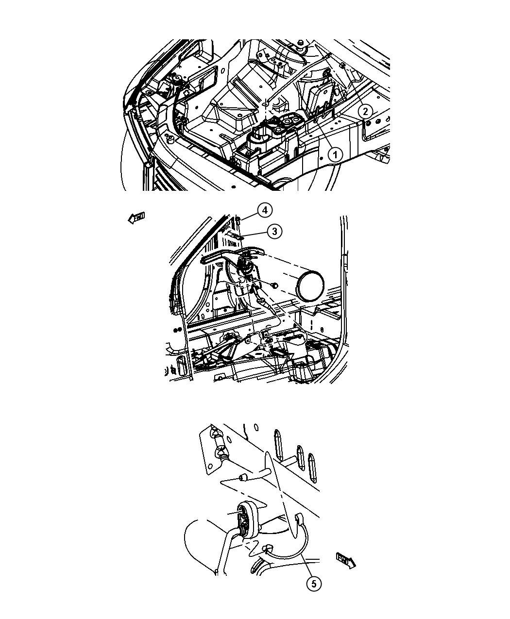 Dodge Journey Strap. Ground. Ebgine to shock tower, engine