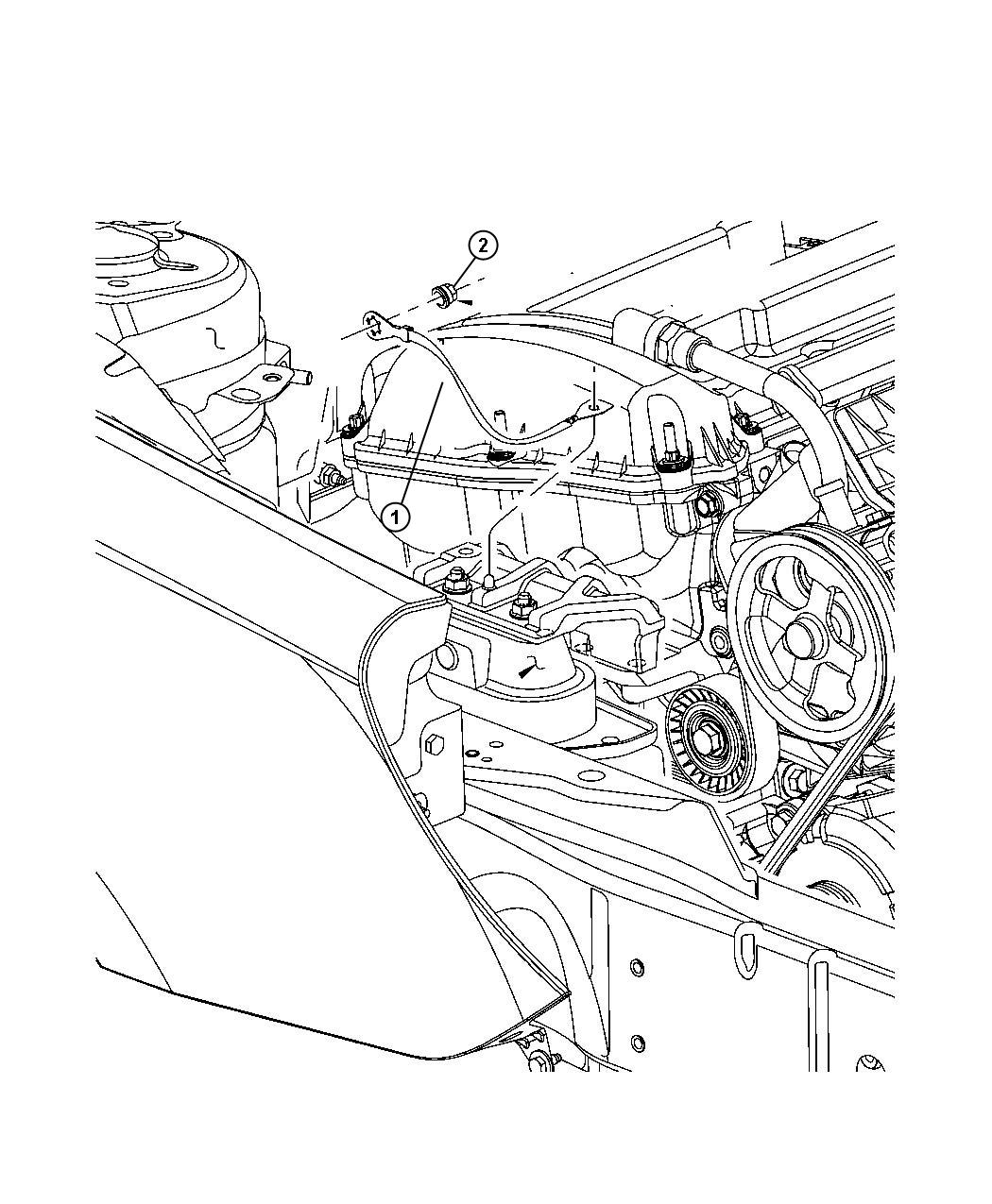 Dodge Avenger Strap Ground Engine Mount To Shock Tower