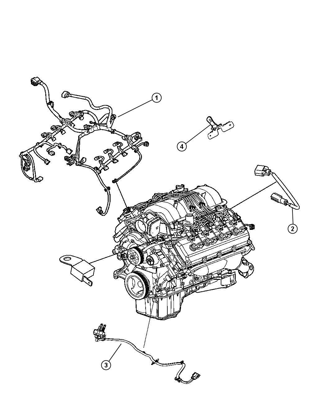 Dodge Ram 1500 Bracket. Engine wiring. Ngc bracket