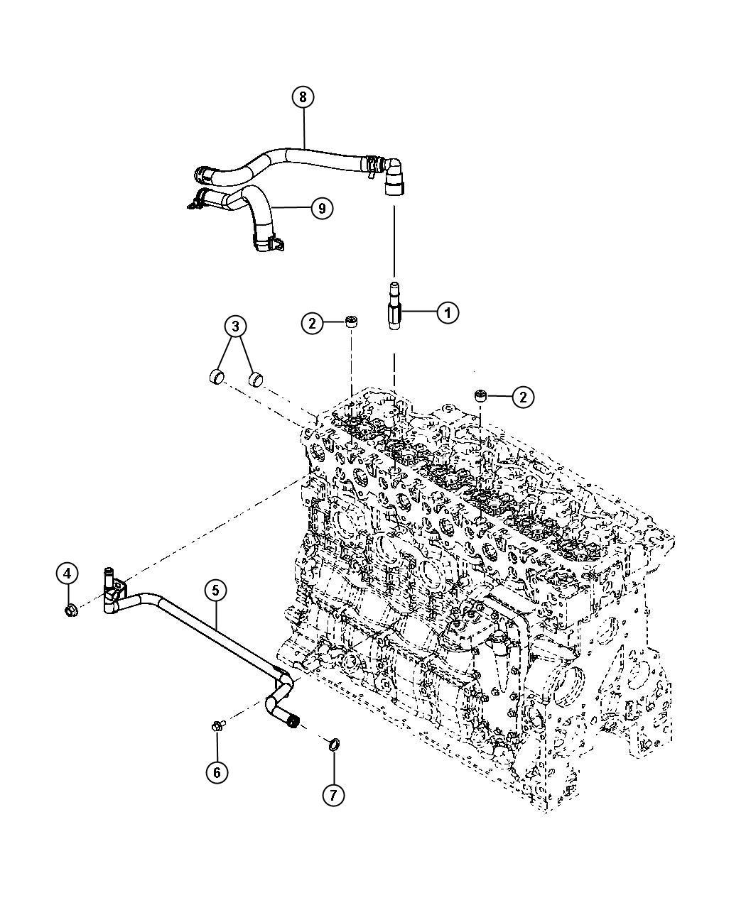 Dodge Ram 2500 Hose. Heater. Supply. Plumbing, etj