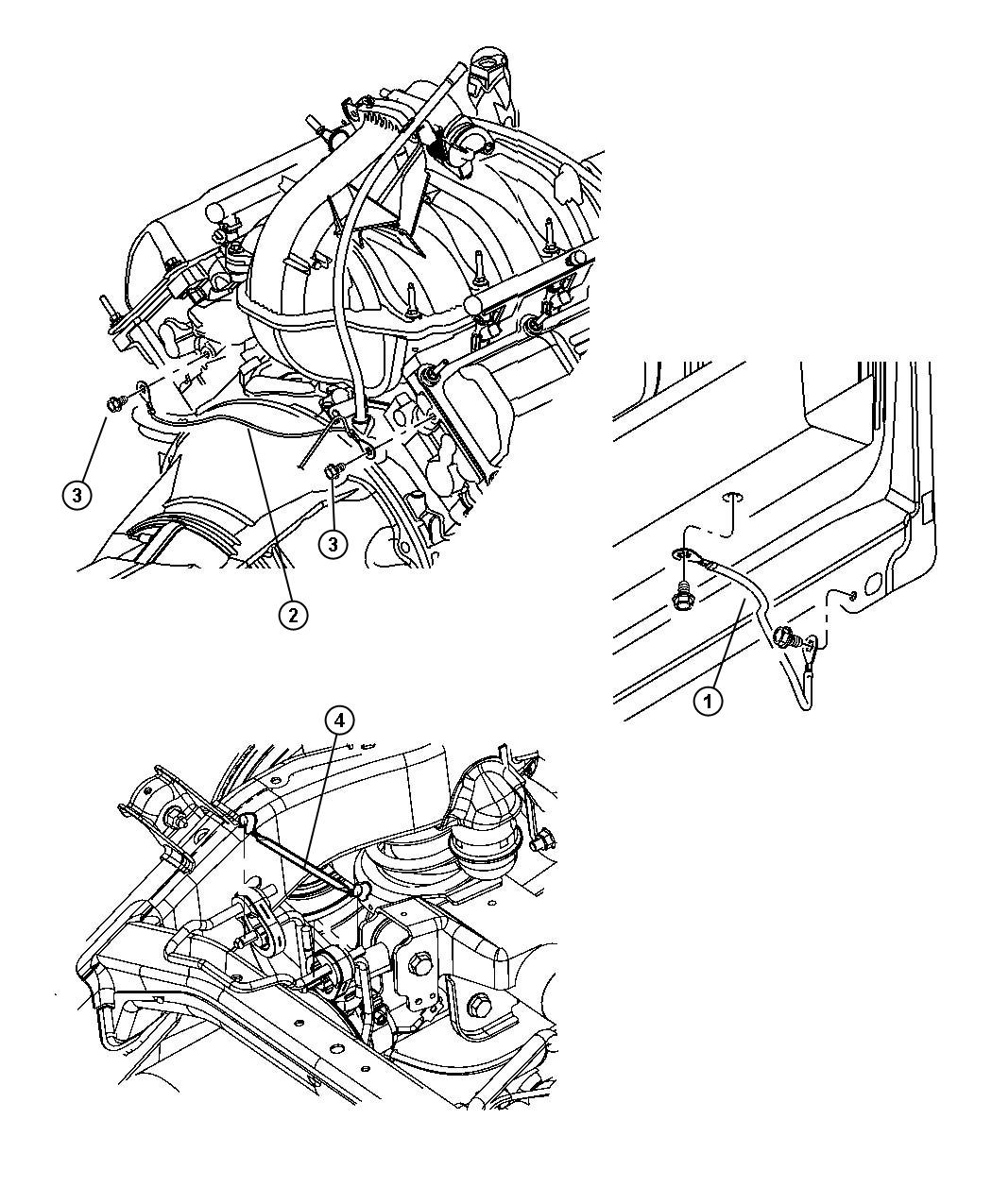 Ram 3500 Strap. Ground. Frame to body, frame to body after