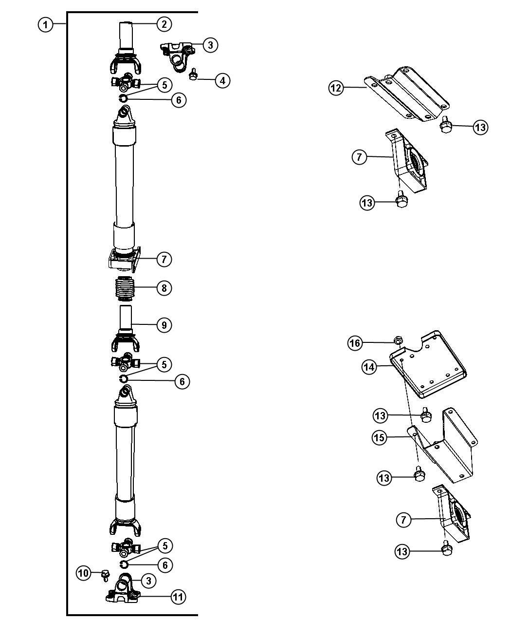 Ram 3500 Shaft. Drive. Rear 2-piece. [6-speed manual g56