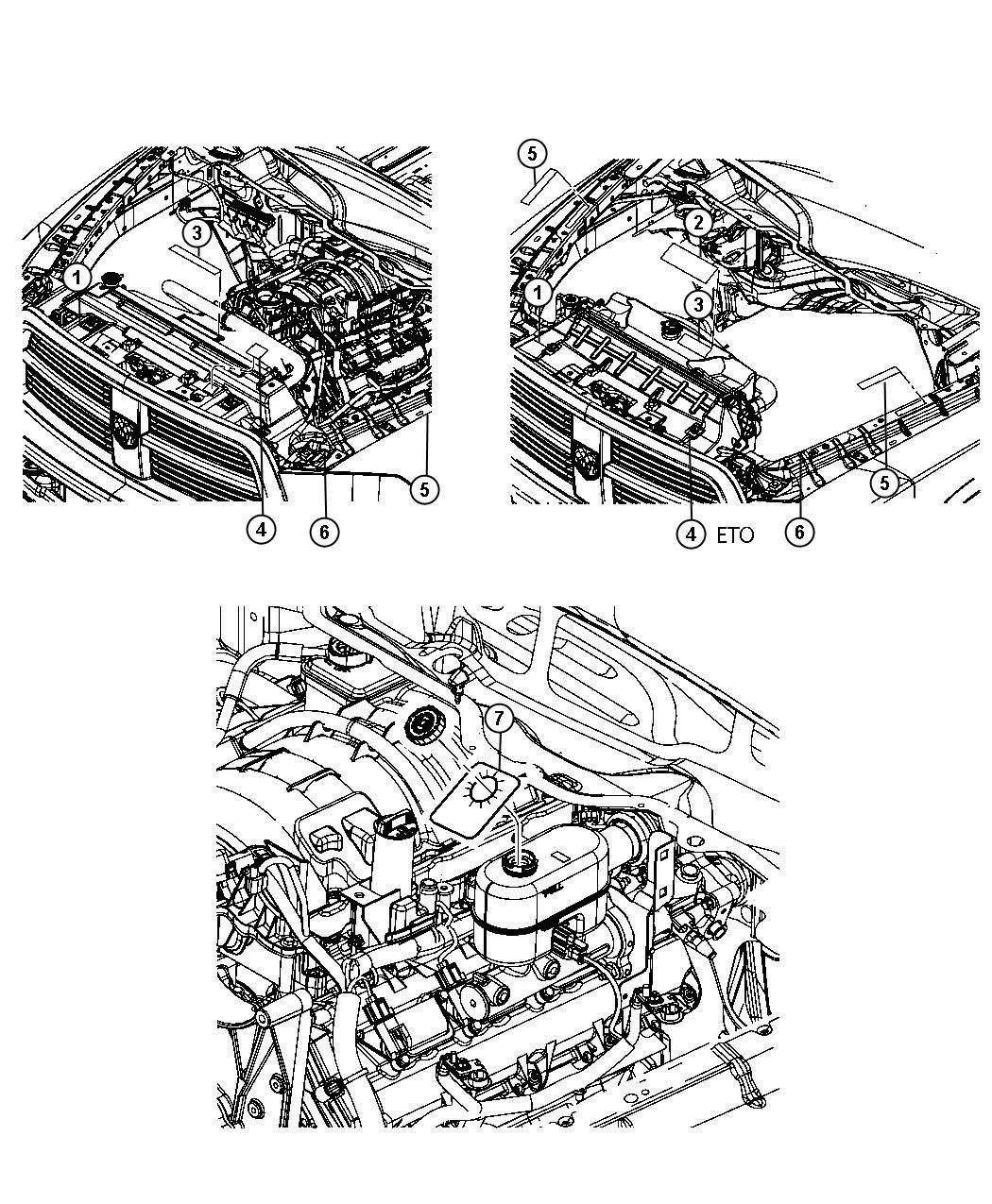 Ram 3500 Label. Battery jump start. Engine, drive, diesel
