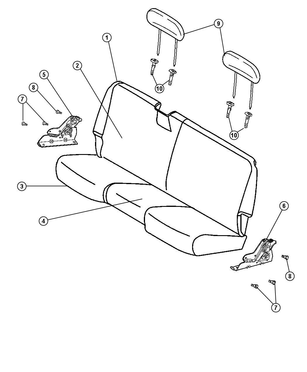 Ram Latch Seat Back Right Rear Folding Seat