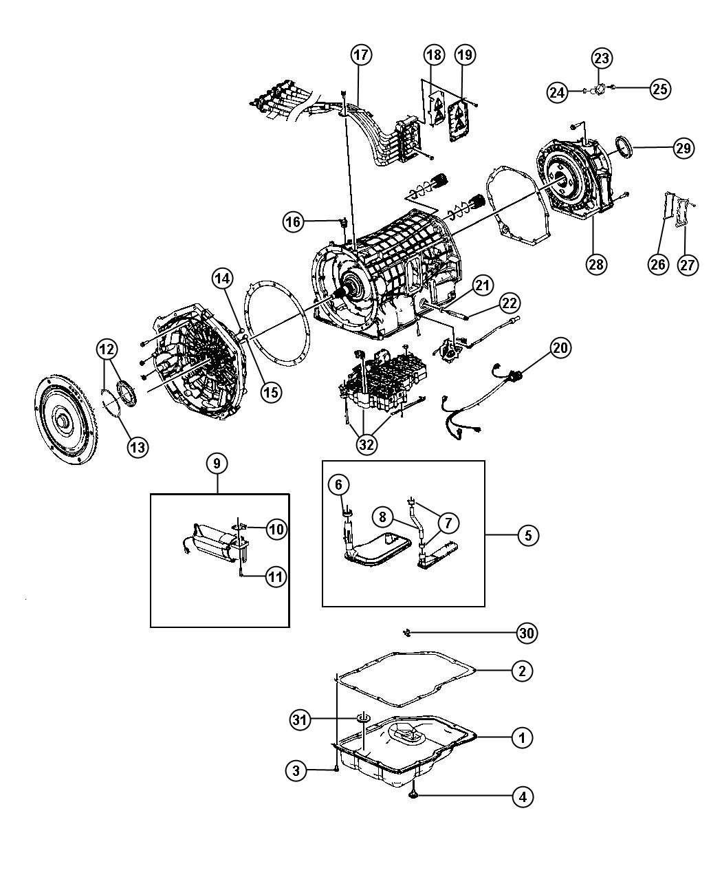 Ram Gasket Auxiliary Pump Transmission Serviceable
