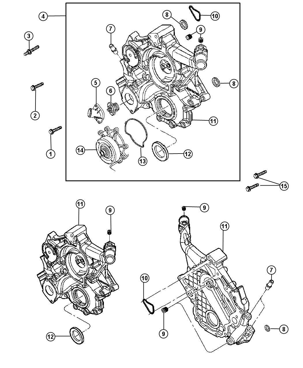 Dodge Nitro Bolt Screw Hex Flange Head M10x1 50x42 00
