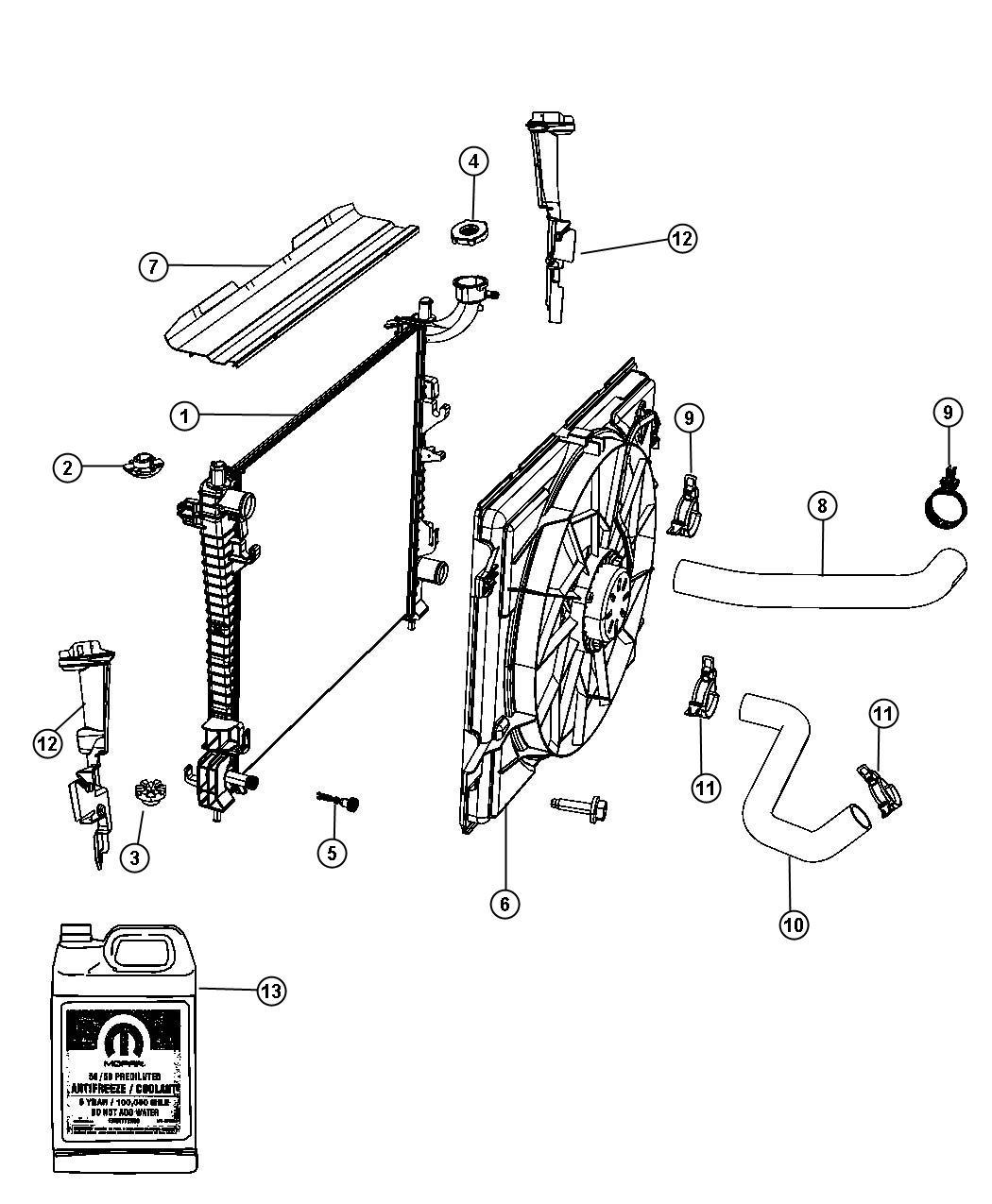 Dodge Durango Fan Module Radiator Cooling Export