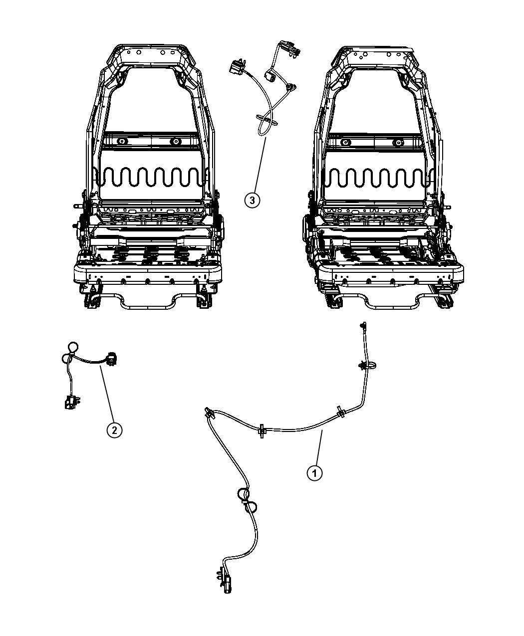 Jeep Wrangler Wiring Seat Belt Jumper Trim Cloth Seats