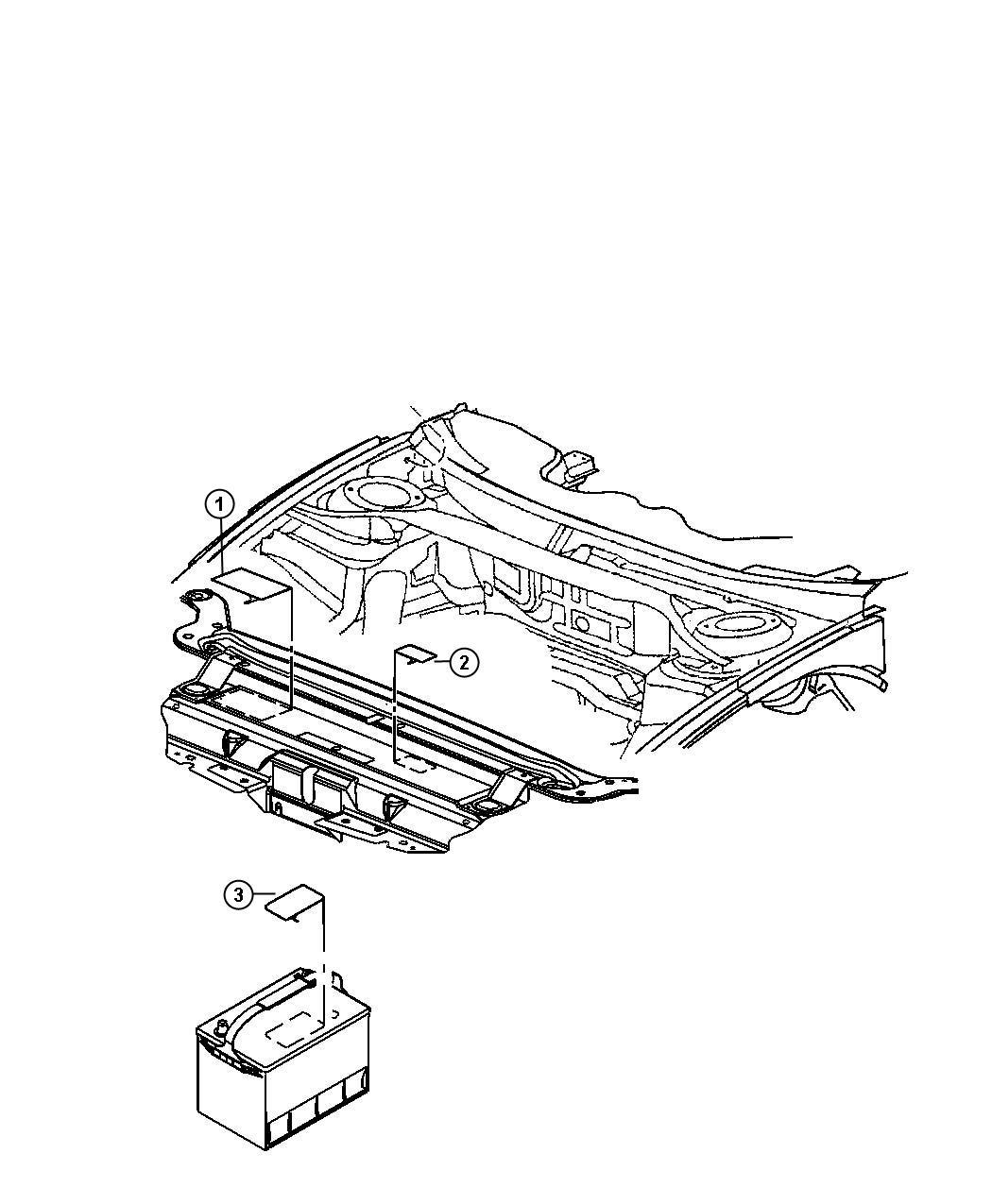 Chrysler 300 Label Battery Battery Warning Canada
