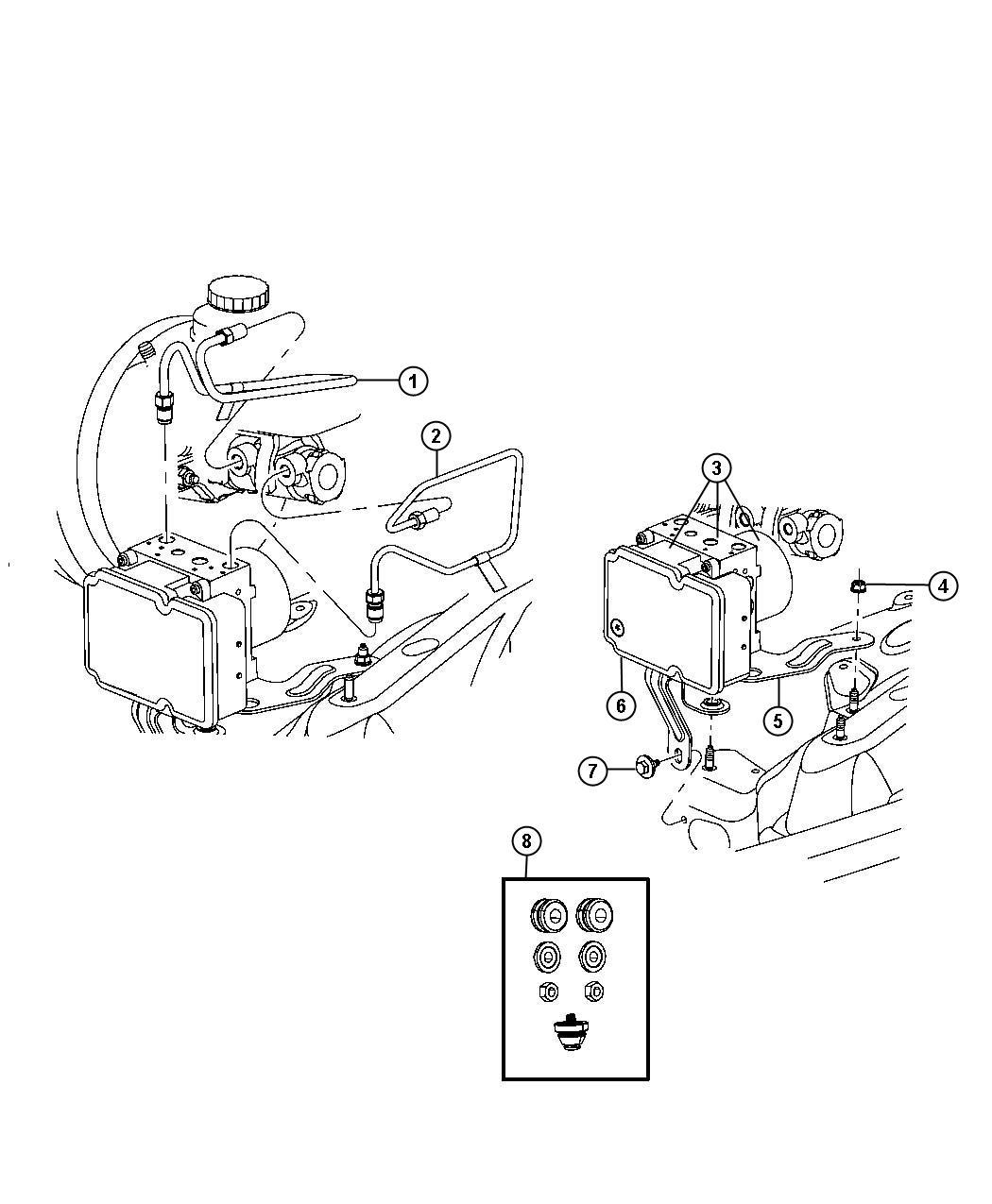 Jeep Liberty Control unit. Anti-lock brake. Stability