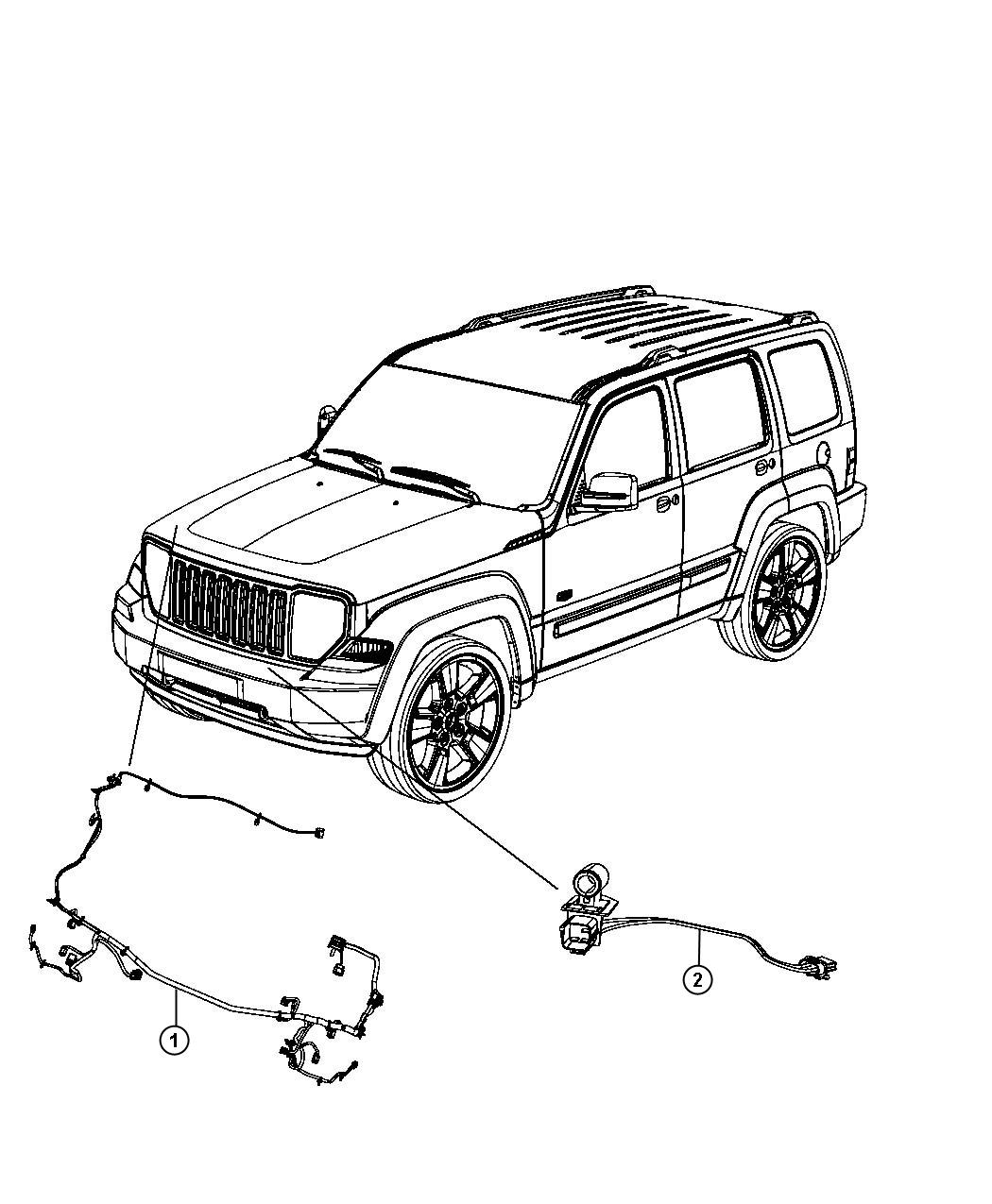 Jeep Liberty Wiring. Front end module. [fog lamps
