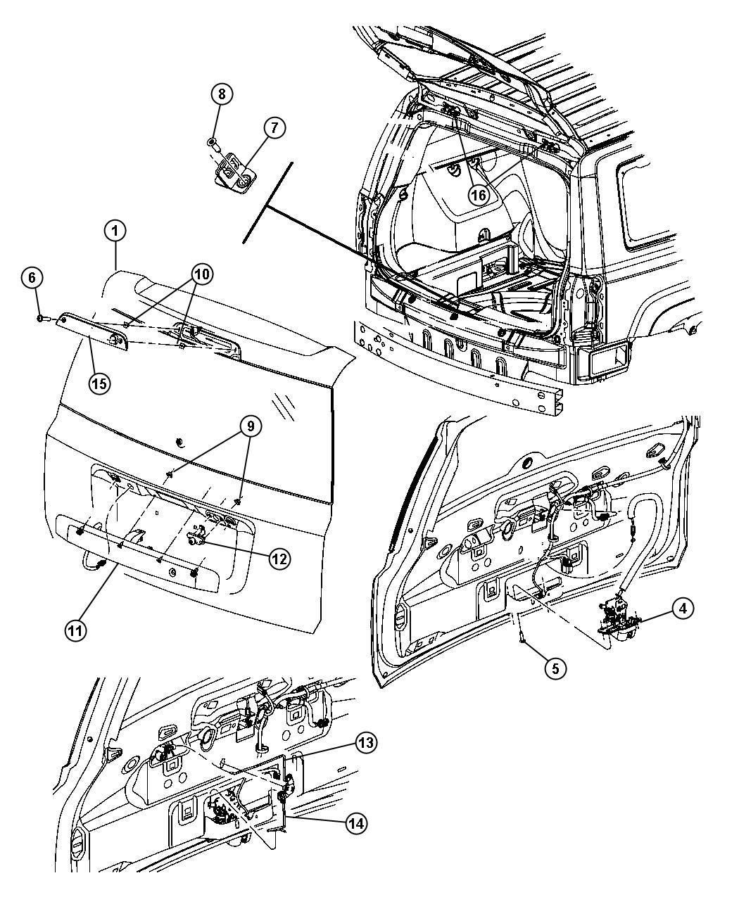 Jeep Patriot Link. Key cylinder to latch. Manual, locks