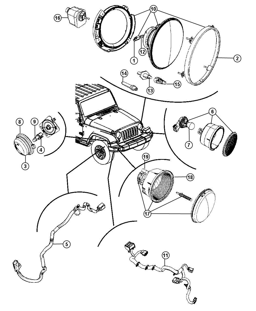 Jeep Wrangler Wiring. Headlamp. Export. Electrical, dash