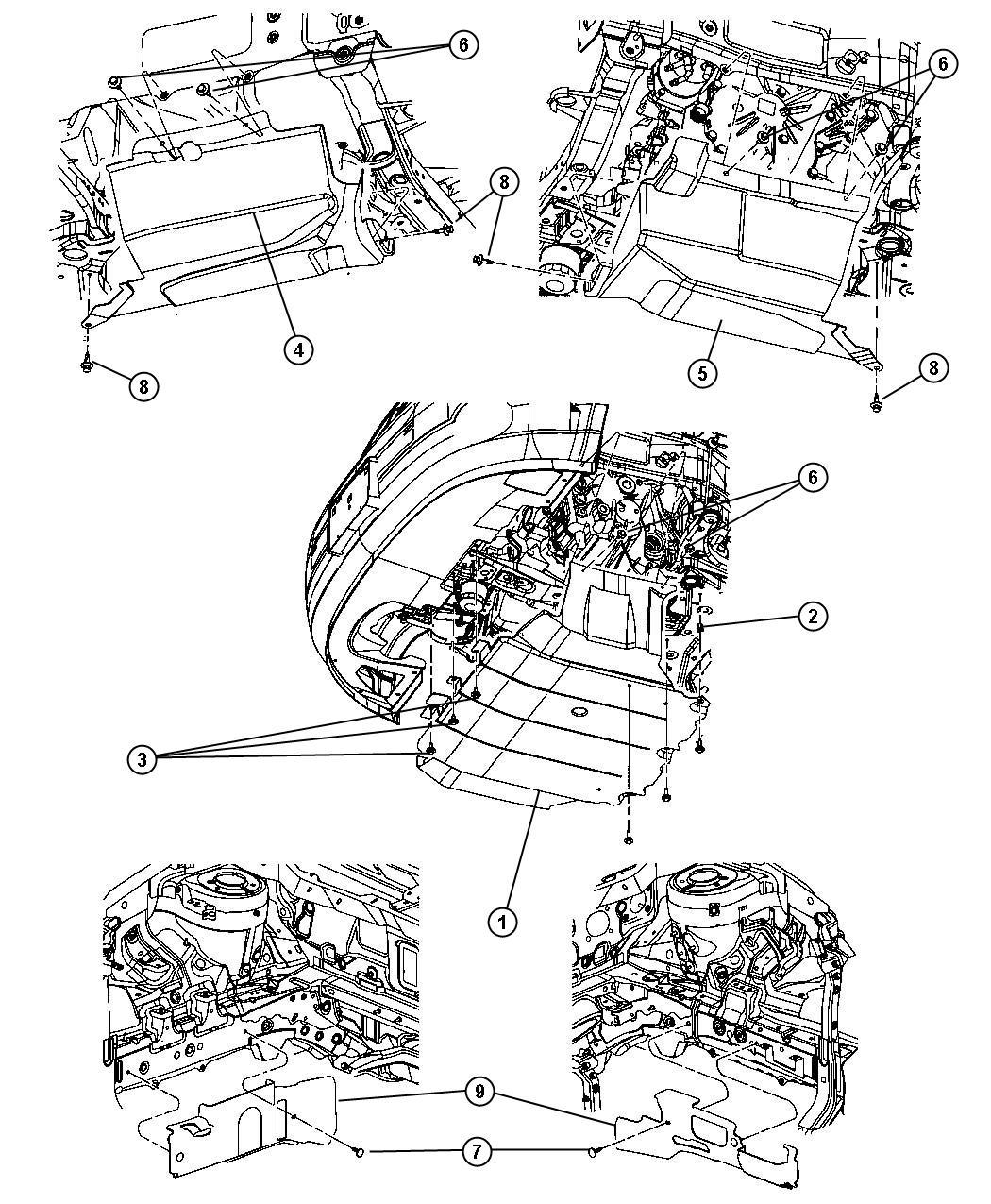 Dodge Caliber Shield. Transmission. [trans/engine oil pan