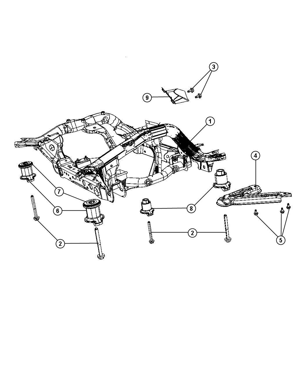 Dodge Durango Cradle. Front suspension. [all v8 engines
