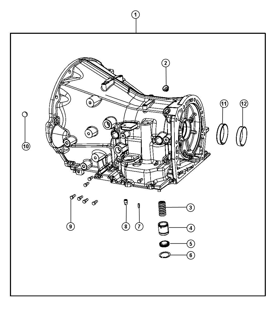 Jeep Liberty Bearing cup. Differential. Two wheel drive