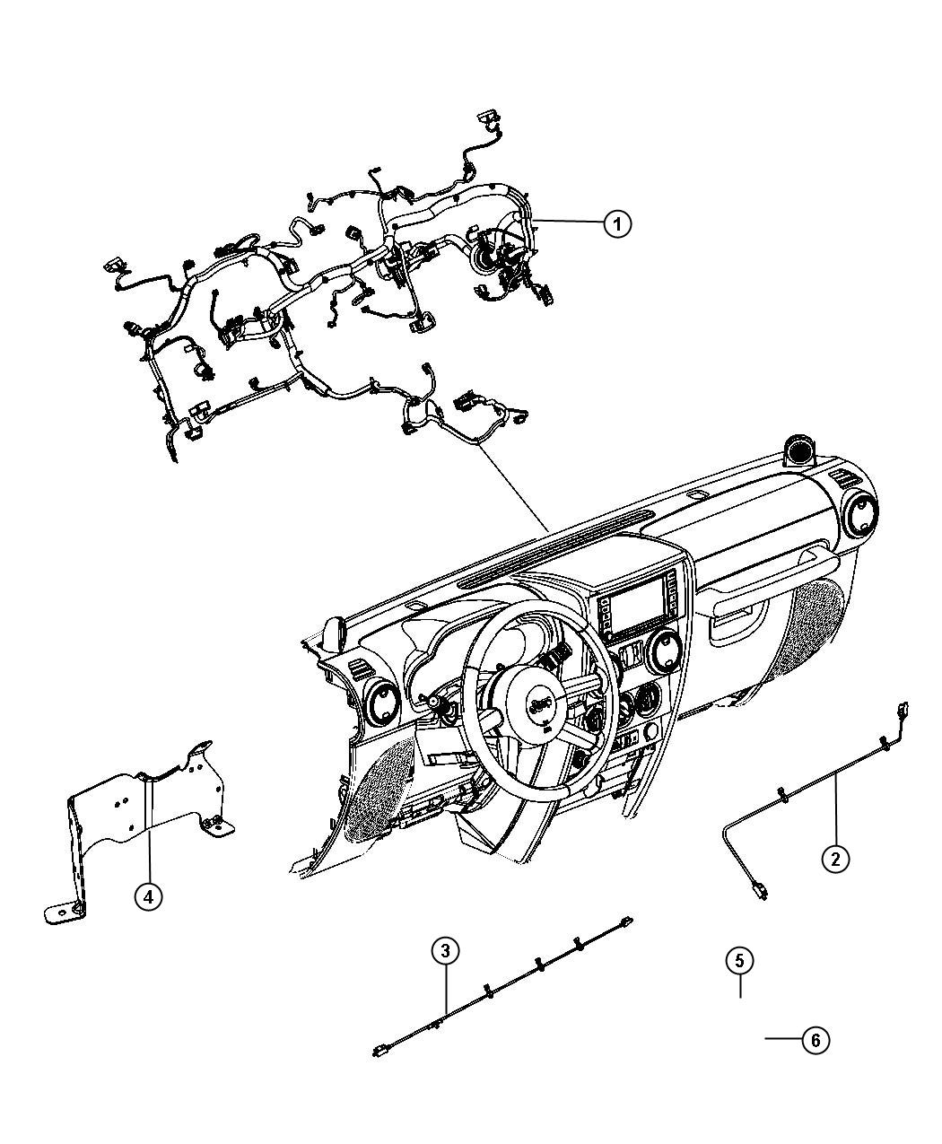 Jeep Wrangler Wiring. Instrument panel. [manual windows