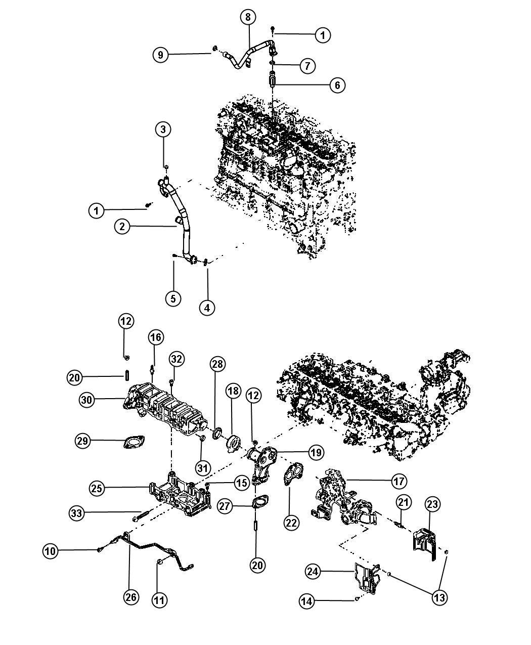 Dodge Ram 2500 Tube. Egr pressure sensing. [50 state
