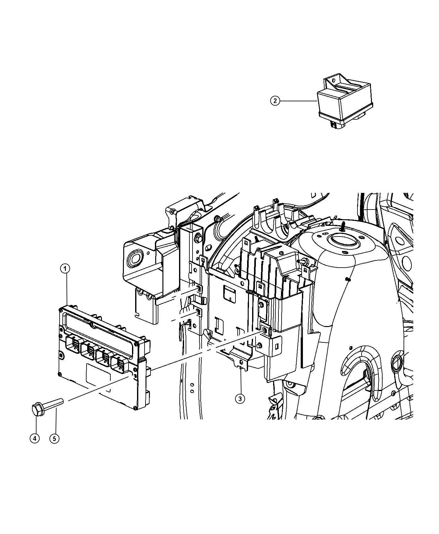 Jeep Grand Cherokee Module. Powertrain control. Generic
