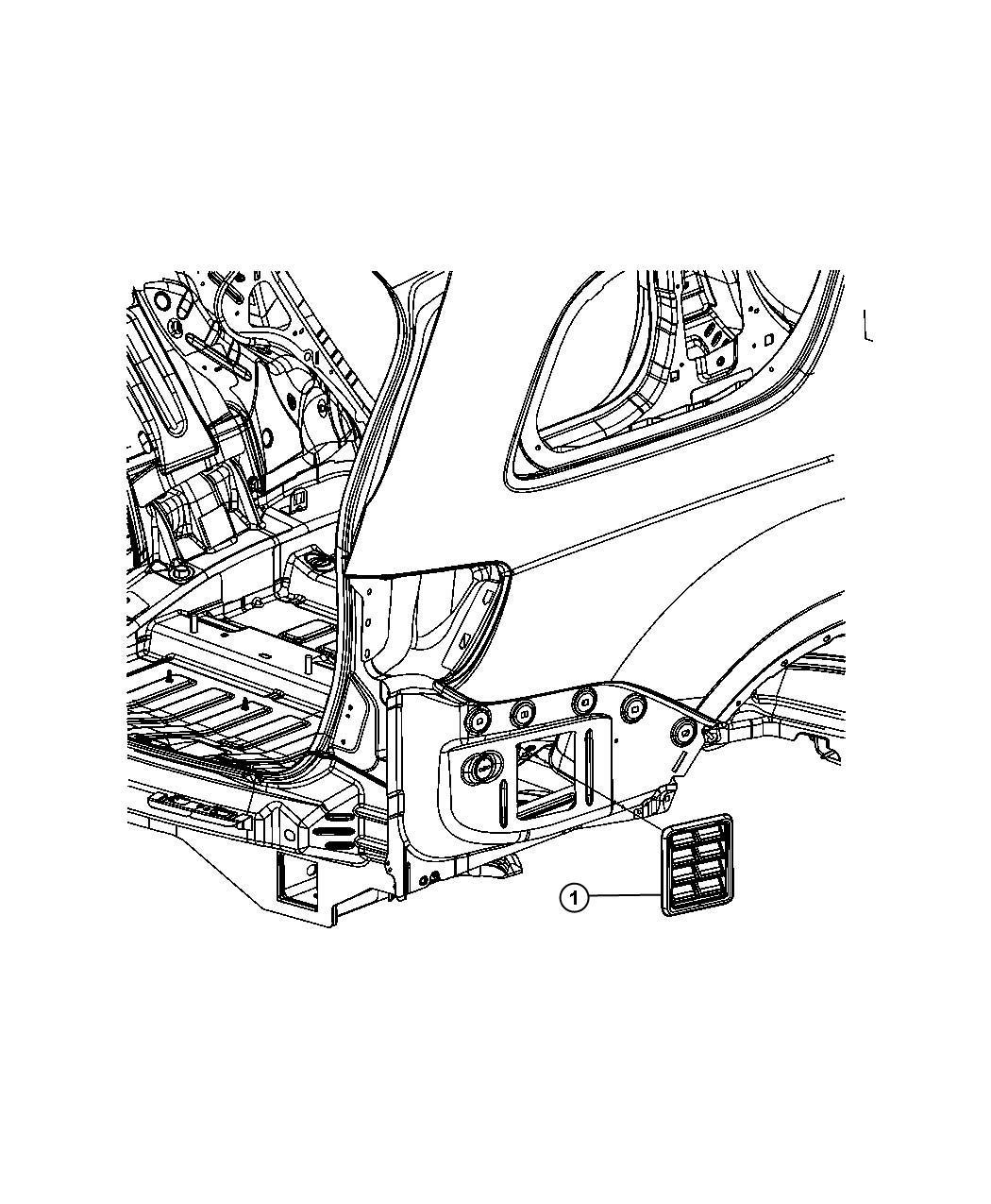 Jeep Grand Cherokee Exhauster. Quarter panel. Rear, body