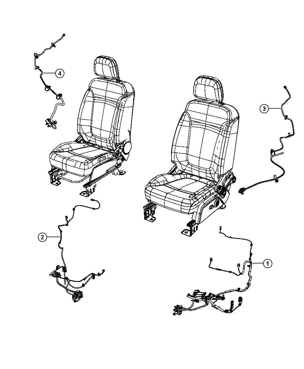 Dodge Journey Wiring Power Seat Seat Trim Cloth Low
