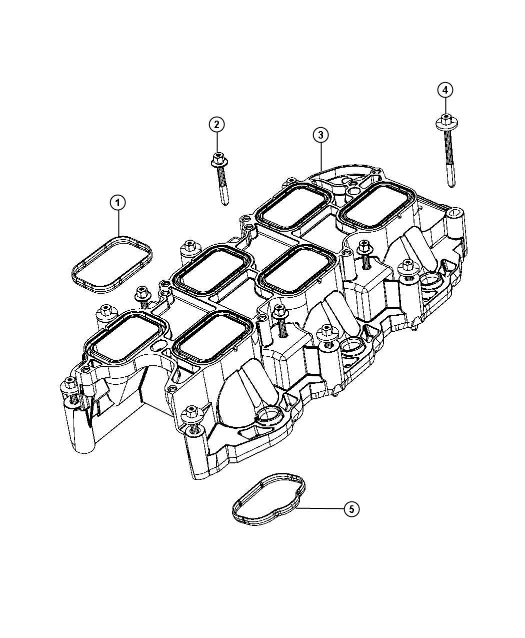 Jeep Wrangler Gasket Intake Plenum Mounting