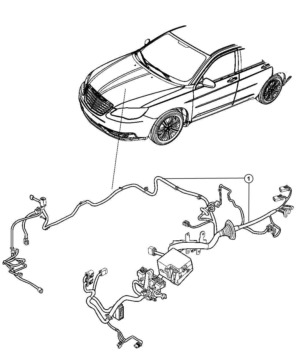 Dodge Avenger Wiring. Headlamp to dash. Mopar, electrical