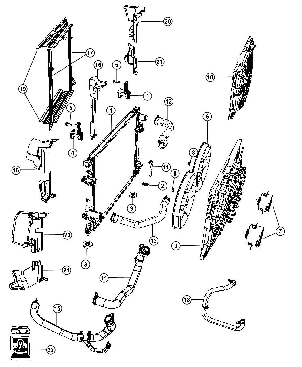 Dodge Charger Seal Radiator Side Air Left Upper Left