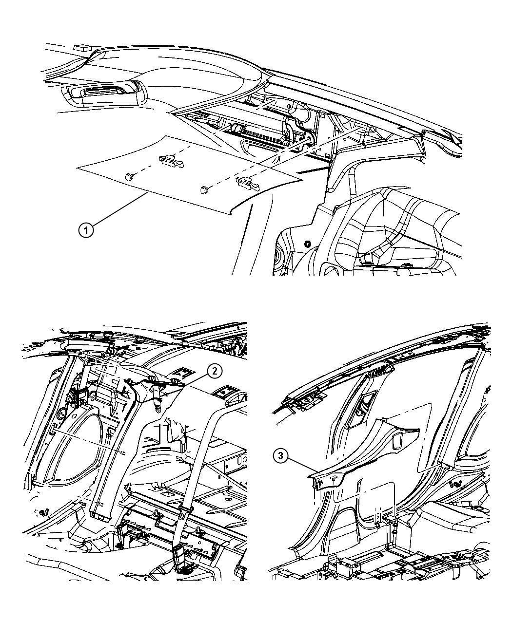 Chrysler 300 Panel. C pillar inner. Left. [mochachino