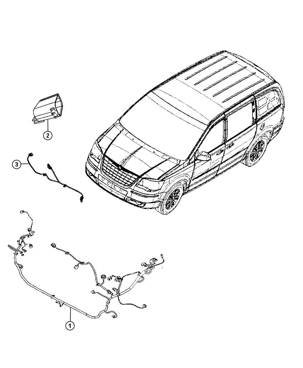 Dodge Grand Caravan Wiring. Headlamp. [h.i.d. E marked