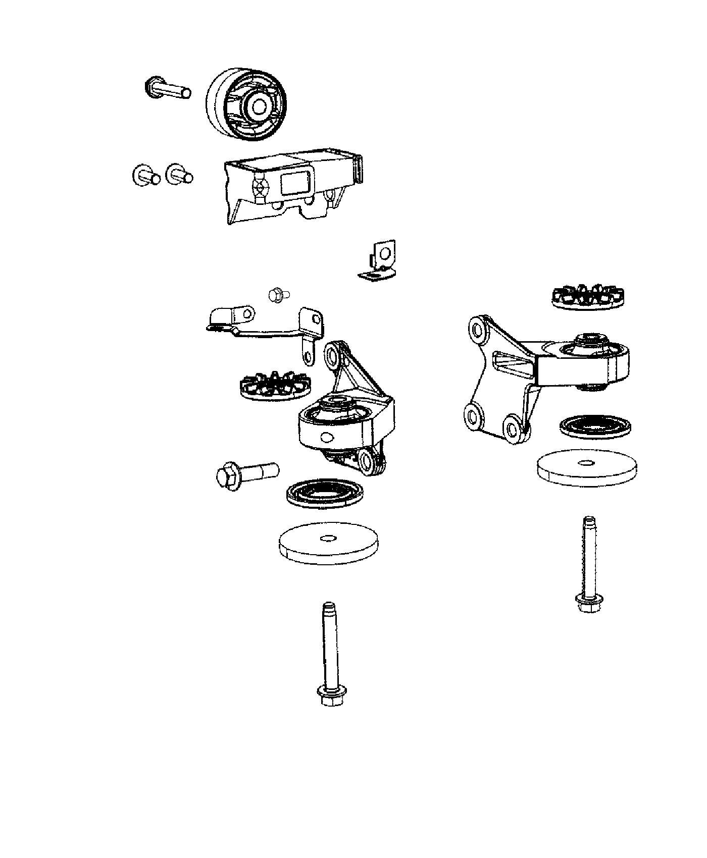 Jeep Compass Bracket. Wiring. Rear, axle, mounts