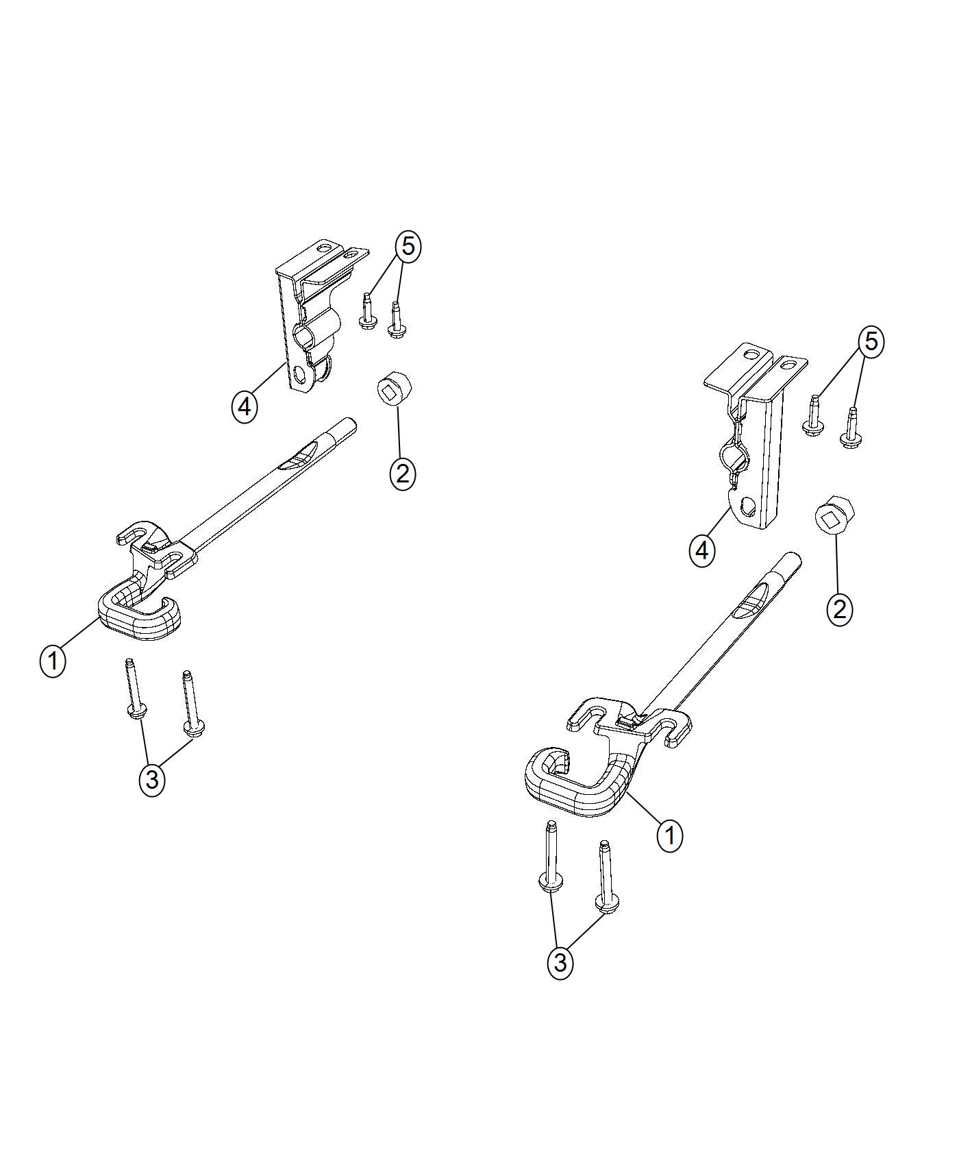 Jeep Cherokee Bracket. Tow hook. Right. [red tow hooks (2