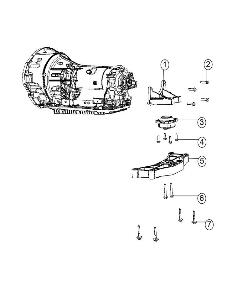 Chrysler 300 Crossmember. Transmission. Support, rwd