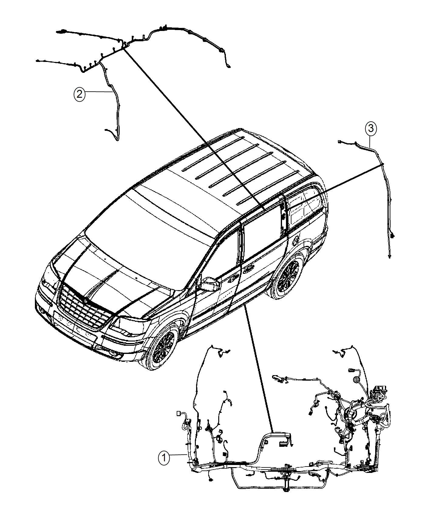 Dodge Grand Caravan Wiring Body Upper Left Upper Left