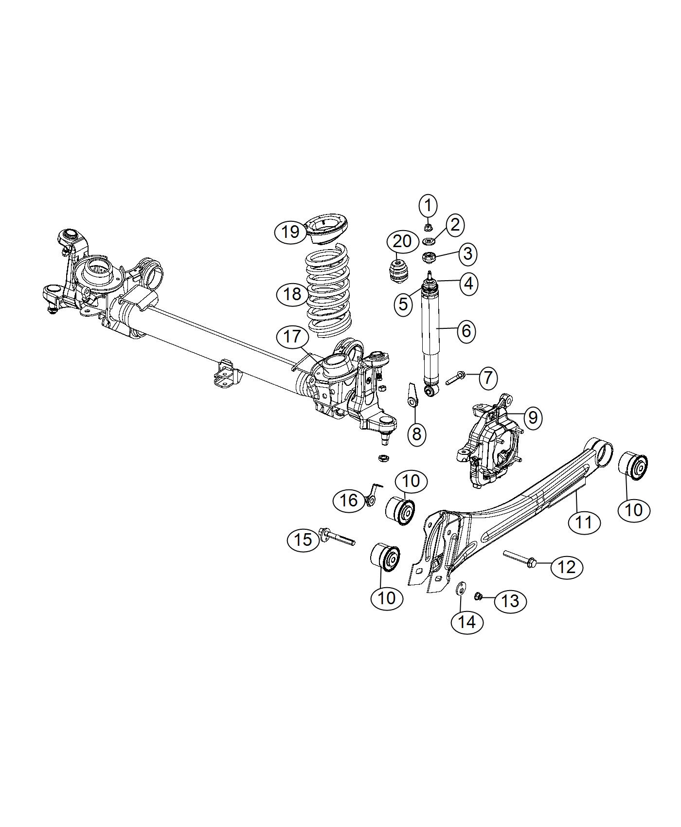Ram 3500 Isolator. Spring. Lower. Suspension, front
