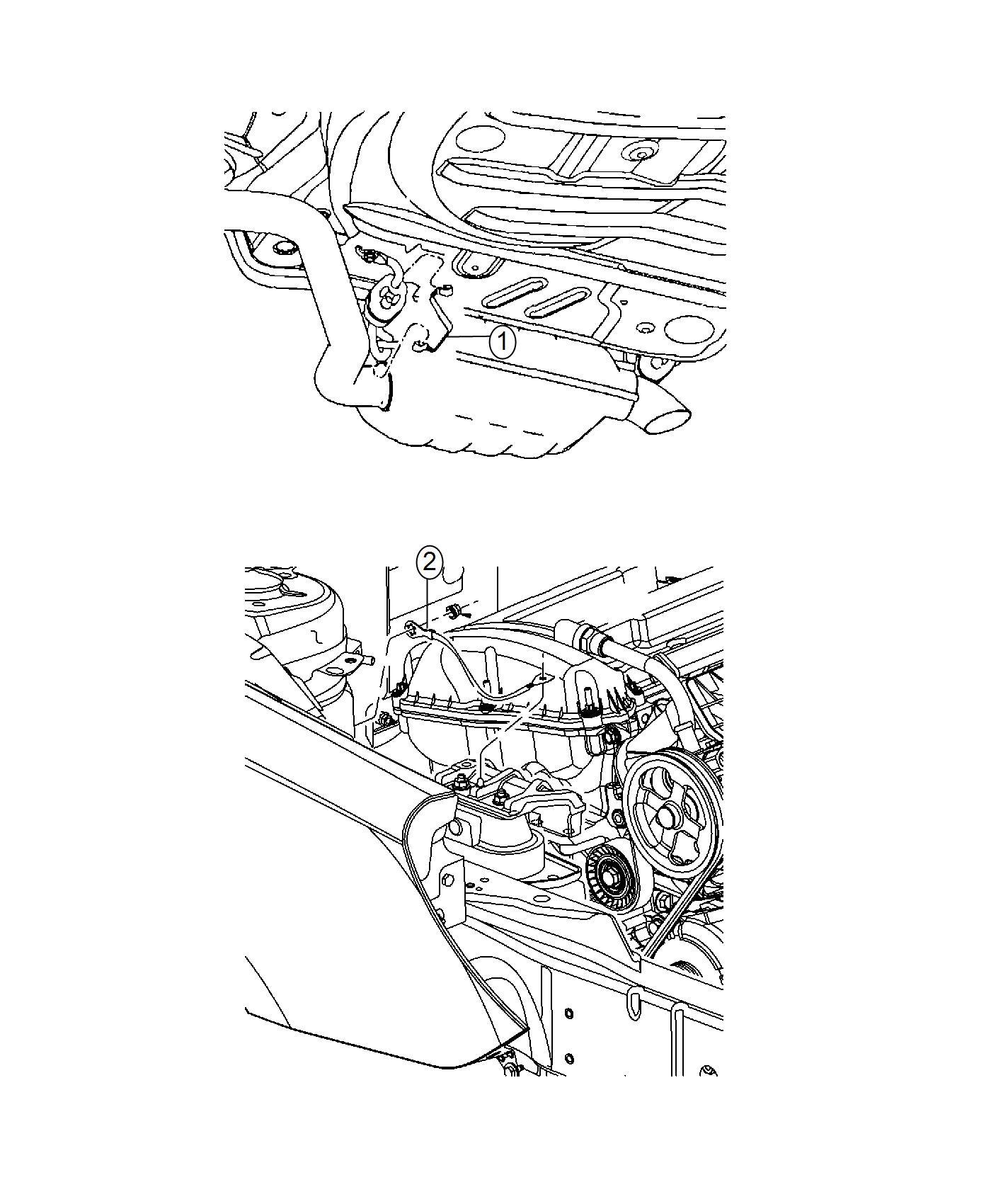 Dodge Challenger Strap. Ground. Engine, radio ground