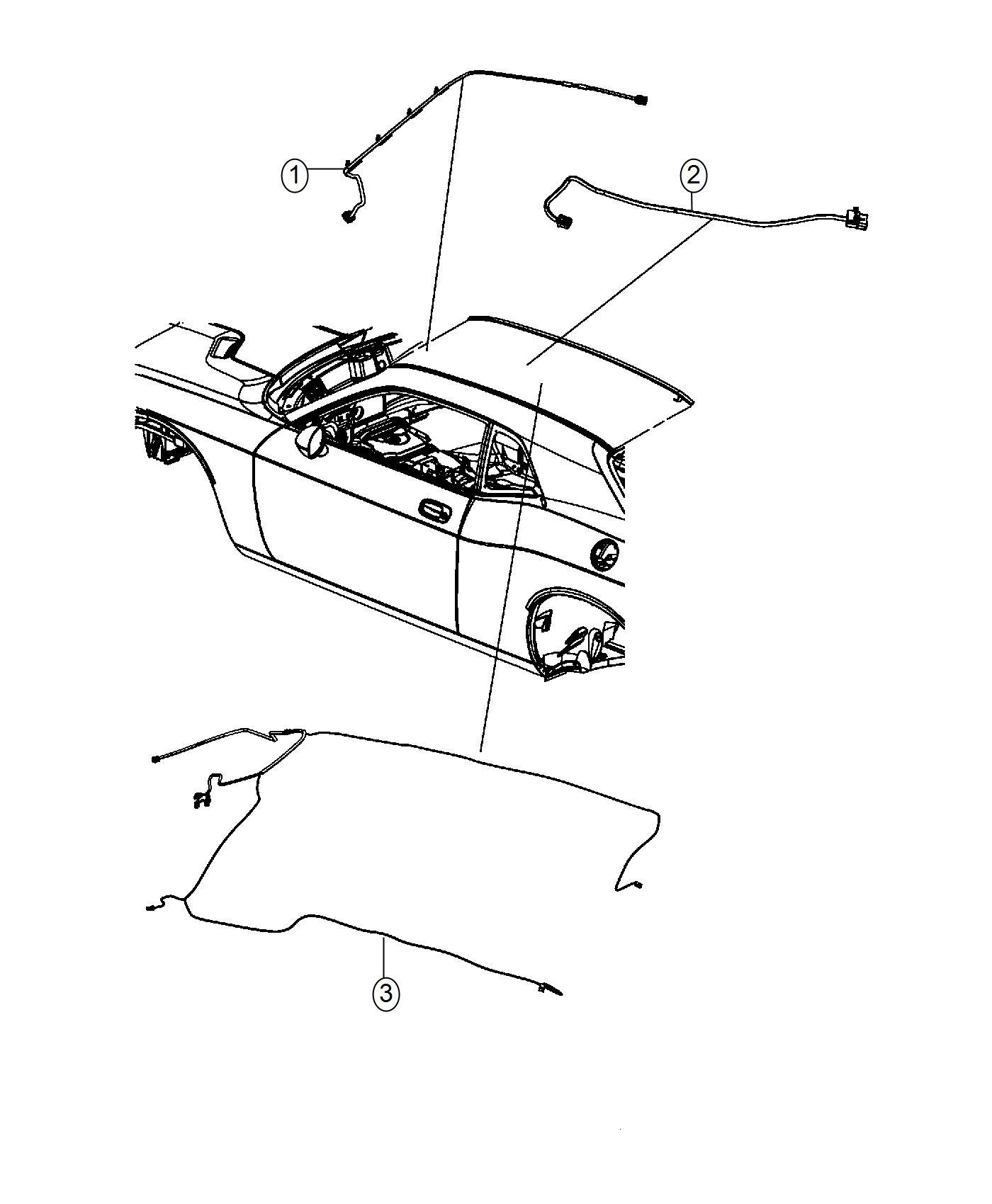 Dodge Challenger Wiring. Jumper. Mirror. [base headliner
