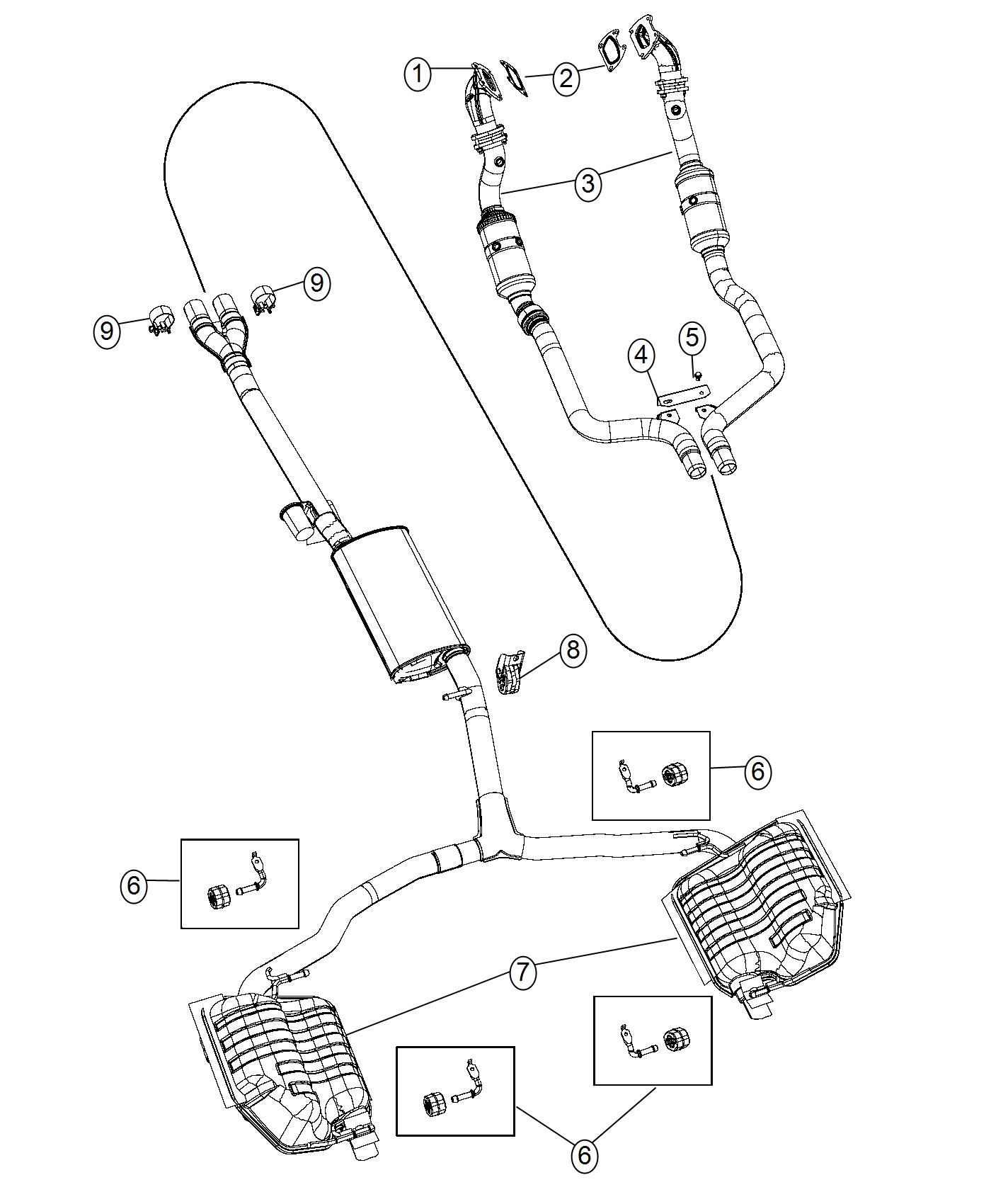Dodge Charger Bracket. Exhaust. [police group], hanger y