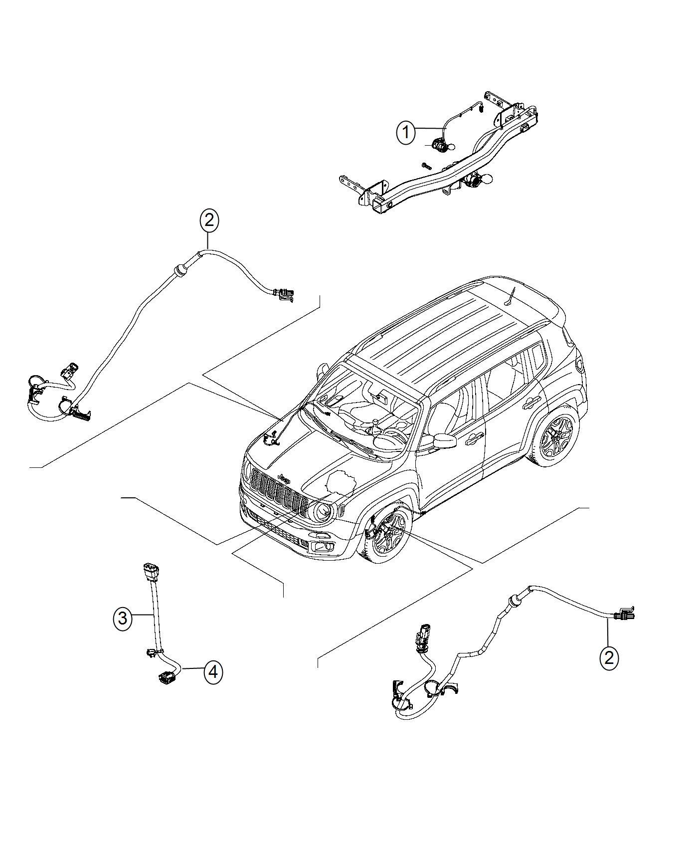 Jeep Renegade Wiring. Jumper, transmission. Export, us