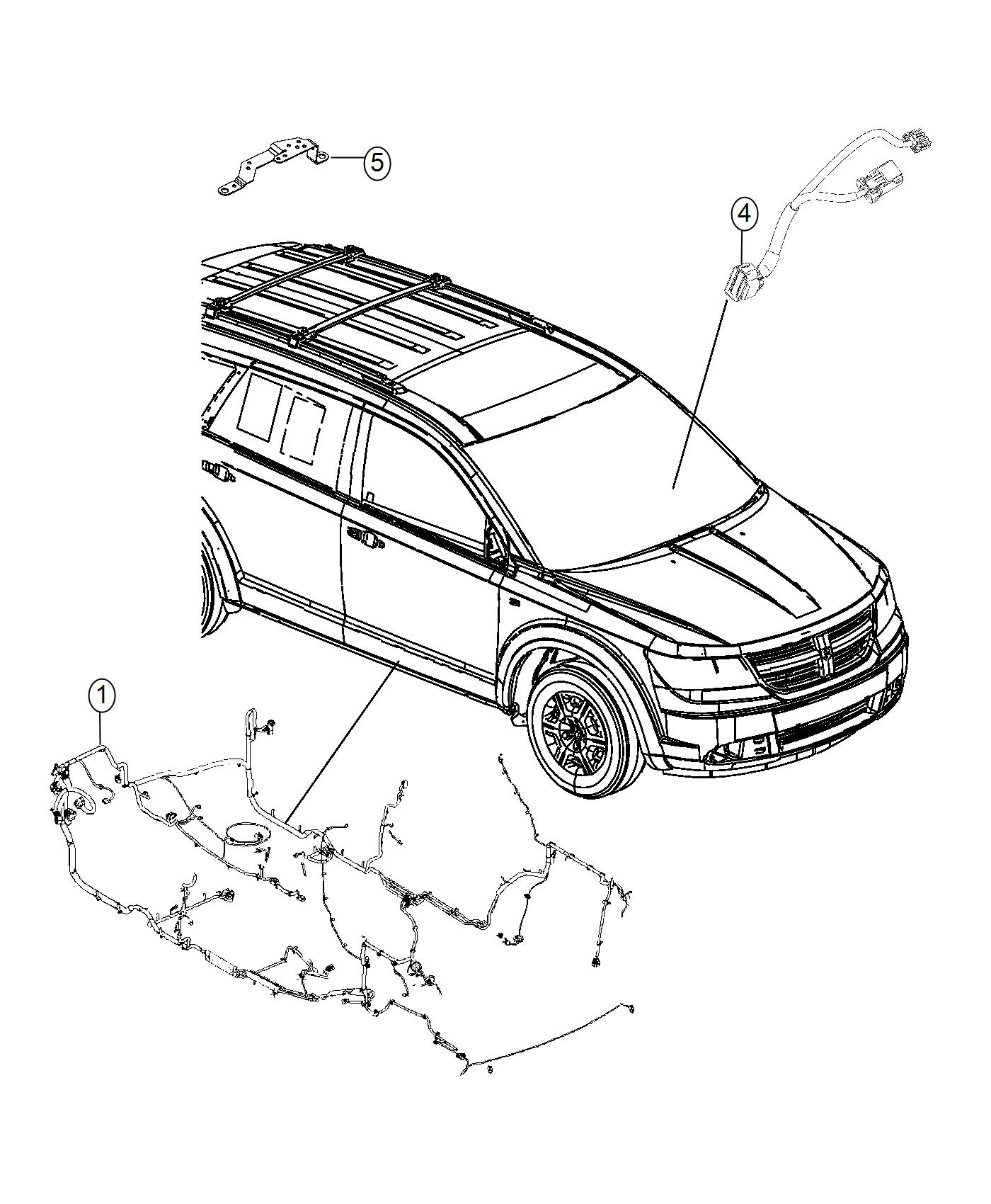 Dodge Journey Wiring. Unified body. Export. [rear air