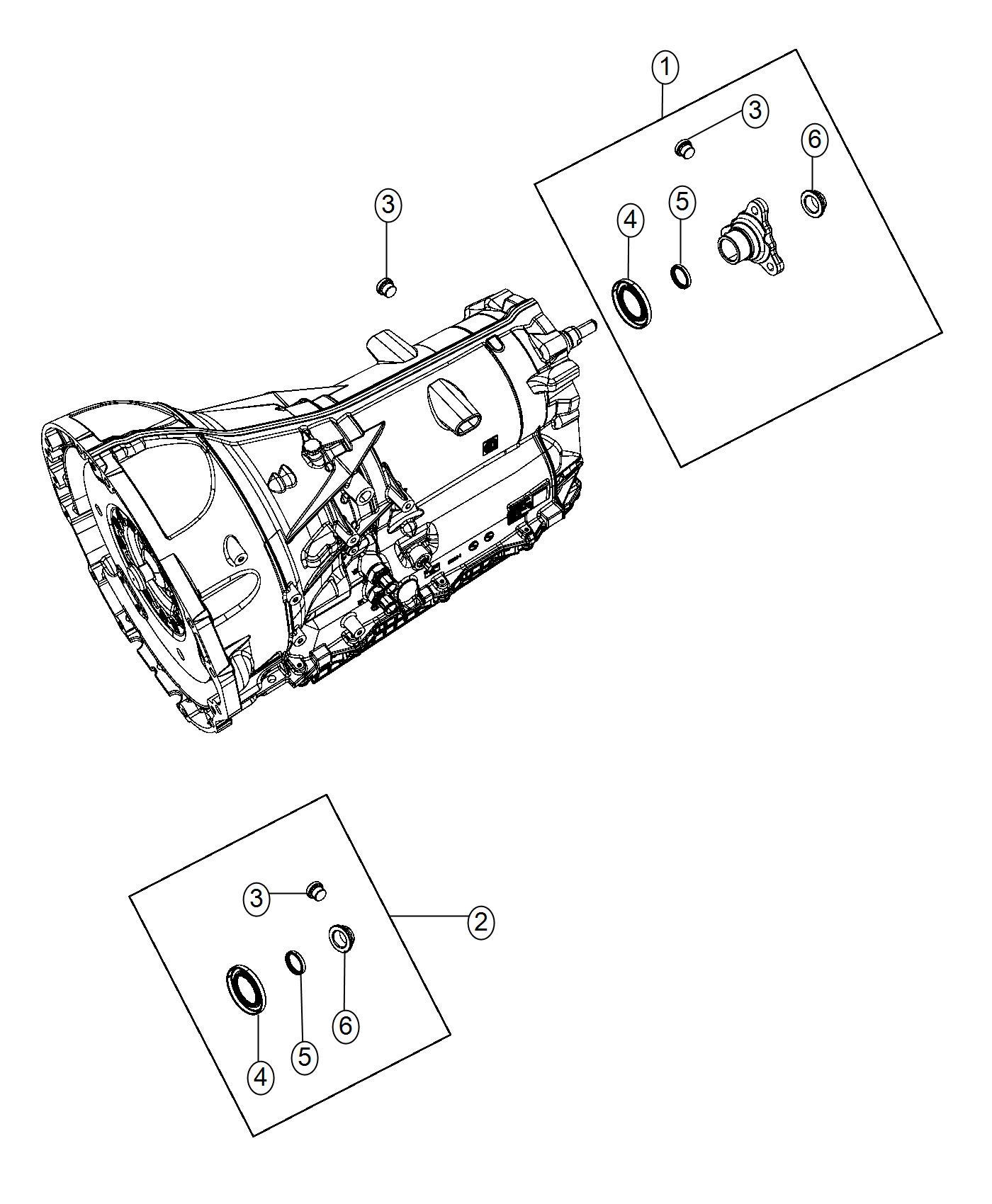 Dodge Charger Seal. Output shaft. [transbrake